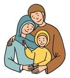 Heilige familieillustratie Royalty-vrije Stock Afbeelding