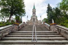 Heilige Familien-Kirche in Zakopane Stockfotos