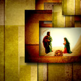 Heilige Familien-Weihnachtskarte Lizenzfreies Stockfoto