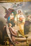 Heilige Familienmalerei innerhalb der Basilika des Heiligen Mary Major Stockfotos