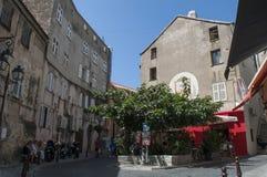 Heilige Florent, San Fiorenzo, horizon, stegen, Haute-Corse, Corsica, Frankrijk, eiland, Europa stock fotografie