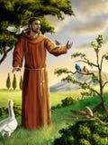 Heilige Francis vector illustratie