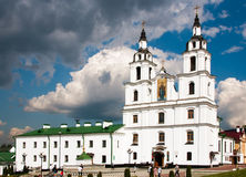 Heilige Geestkathedraal minsk Wit-Rusland 2014 Stock Afbeelding