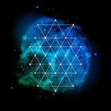 Heilige Geometrie Alchimie, Religion, Philosophie, Geistigkeit, Hippie-Symbol lizenzfreie abbildung