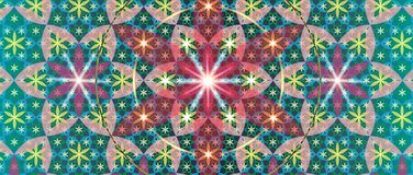 Heilige Geometrie-Blume III Stockfoto