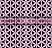 Heilige Geometrie, nahtlose Blume ` Muster des Diamanten von Leben ` Lizenzfreies Stockfoto