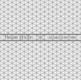 Heilige Geometrie, nahtlose Konturnmuster ` Blume von Leben ` Lizenzfreies Stockfoto
