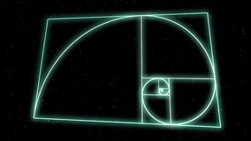 Heilige Geometrie-Spirale stock footage