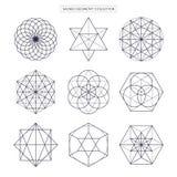 Heilige Geometrie Ursprünglicher erweiterter Entwurf des Entwurfsvektors nicht Stockbilder