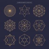 Heilige Geometrie Ursprünglicher erweiterter Entwurf des Entwurfsvektors nicht Stockfotos