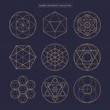 Heilige Geometrie Ursprünglicher erweiterter Entwurf des Entwurfsvektors nicht Stockbild