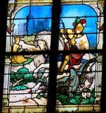 Heilige George die de draak doden Royalty-vrije Stock Afbeelding