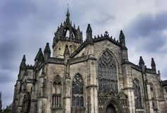 Heilige Giles Cathedral in Edinburgh, Schotland stock afbeelding