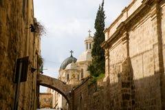 Heilige Grafgewelfkathedraal in Jeruzalem, Israël Stock Afbeeldingen