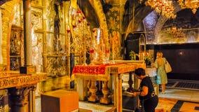 Heilige Grafgewelfkerk Jeruzalem Stock Afbeeldingen