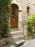 Heilige-guilhem-le-woestijn, een dorp in herault, Languedoc, Frankrijk stock afbeelding