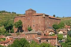 Heilige -heilige-izaire dorp, Aveyron, Frankrijk Royalty-vrije Stock Foto's