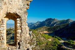 Heilige Hilarion Castle, Cyprus Stock Afbeelding
