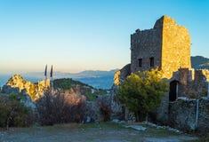 Heilige Hilarion Castle, Cyprus Royalty-vrije Stock Afbeeldingen