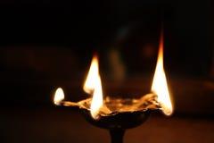 Heilige hinduistische Lampe Stockbild