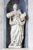Heilige Ignatius van Loyola Italian Baroque-beeldhouwwerk Royalty-vrije Stock Foto
