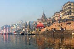 Heilige Indische stad Varanasi Royalty-vrije Stock Foto's