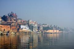 Heilige Indische stad Varanasi Stock Afbeeldingen