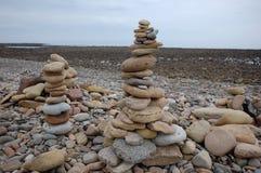 Heilige Insel Northumberland Strandkiesel Lindisfarne Stockbild