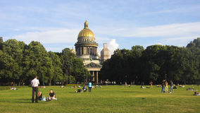 Heilige Isaac Cathedral in St Petersburg, Rusland Stock Foto