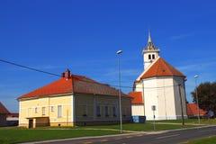 Heilige Jacob Church, Dobrovnik, Slovenië Stock Foto