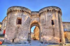 Heilige Jacques Gate in Cognac, Frankrijk royalty-vrije stock fotografie