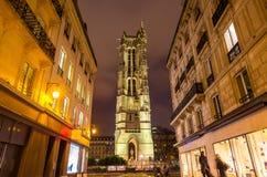 Heilige Jacques Tower in Parijs royalty-vrije stock foto's
