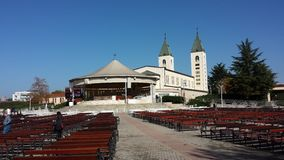 Heilige James Parish Church Medjugorje Croatia Royalty-vrije Stock Afbeelding