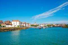 Heilige-Jean-DE-Luz, Aquitaine, Pays Basque, Frankrijk Stock Afbeelding