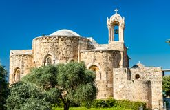 Heilige Jean-Marc Church in Byblos, Libanon royalty-vrije stock afbeelding