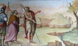 Heilige John doopsgezind royalty-vrije illustratie