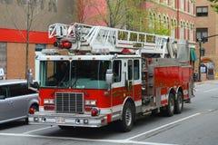 Heilige John Fire Truck, New Brunswick, Canada Royalty-vrije Stock Foto's