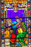 Heilige John Gospel Writers Stained Glass Santa Maria Novella Florence Italy stock fotografie
