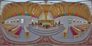 Heilige Joseph Catholic Church Interior, ralja van Zetevà ¡ (Subcetate), Roemenië Stock Afbeelding