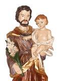 Heilige Joseph en Baby Jesus Royalty-vrije Stock Afbeeldingen