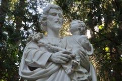 Heilige Joseph Sculpture Stock Foto