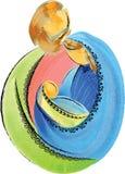 Heilige künstlerische abstrakte Geburt Christi Chr der Familie Jesus Mary und Josephs Stockbild