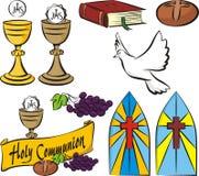Heilige kerkgemeenschap - vectorsymbolen Royalty-vrije Stock Fotografie