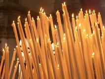 Heilige Kerzen Stockfoto