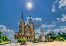 Heilige Kirche der Architektur am Nachmittag, Stockfoto