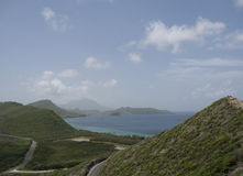 Heilige Kitts, Mening van Timothy Hill Royalty-vrije Stock Afbeeldingen