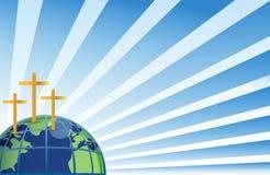 Heilige kruisen in bovenkant van de aarde Royalty-vrije Stock Foto's