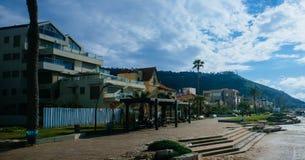 Heilige landreeks - het Strand van Knuppelgalim stock afbeelding