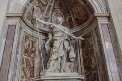 Heilige Longinus in St. Peter Basiliek Royalty-vrije Stock Fotografie