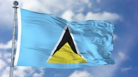 Heilige Lucia Flag in een Blauwe Hemel Royalty-vrije Stock Foto's